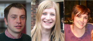 Stephen Bates, Laura Jenkins and Fran Amery